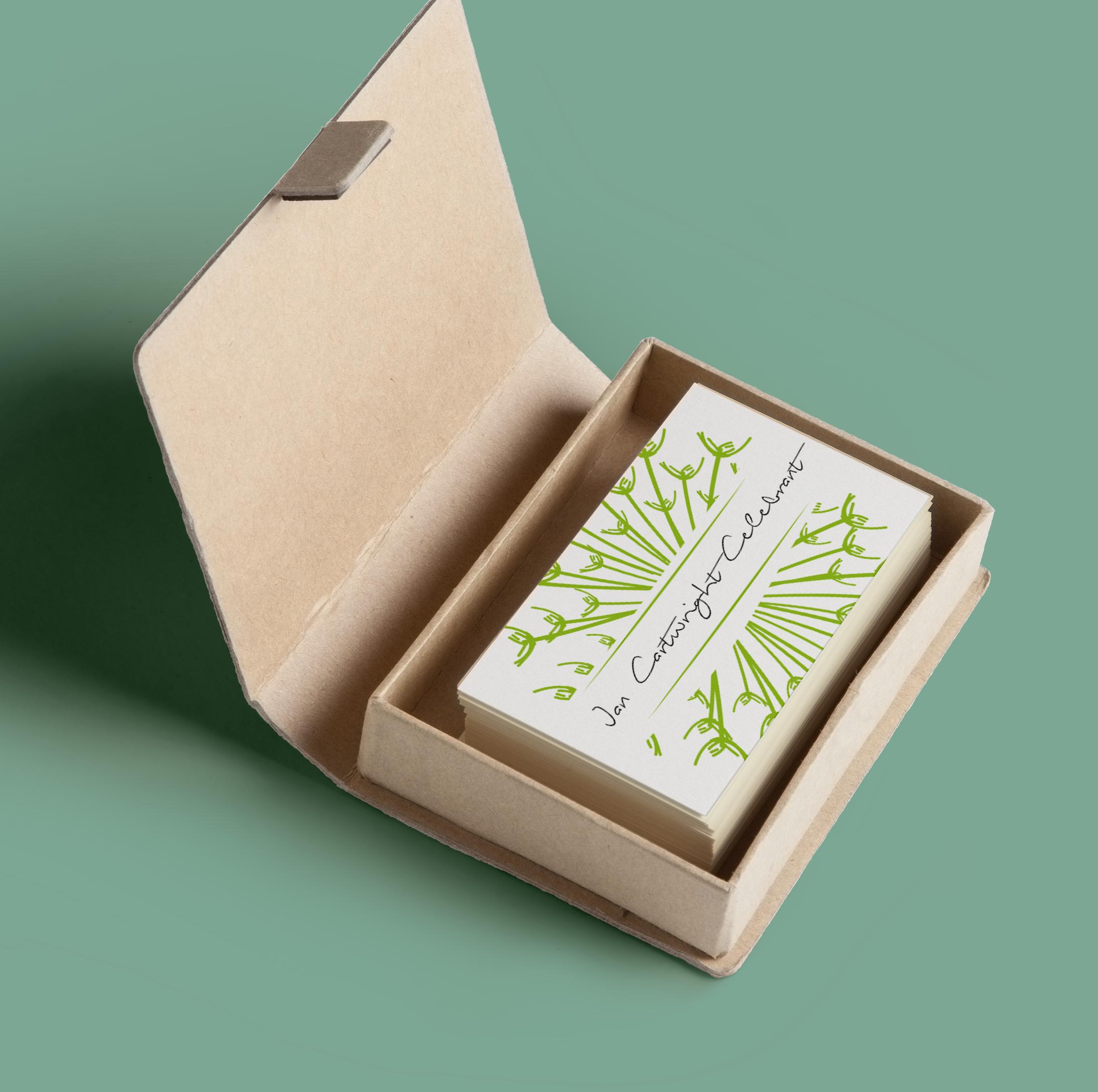 seeds of change logo business card mockup